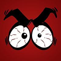 怒りの目: マンガ風楽しいフォトエディター