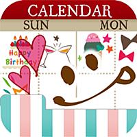 ペタットカレンダー かわいいスタンプで簡単スケジュール管理