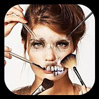 Scary Makeup Horror photos Zombies and Stickers