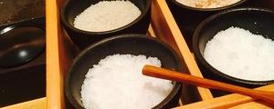 恵比寿「初代」〜六種の塩をアテに呑む日本酒と〆のクリームカレーうどん