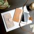 iPhone7用、アートなレザーの手帳型アイフォンケースが出来ました♪