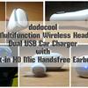 「dodocool デュアルUSBカーチャージャー Bluetooth ハンズフリーイヤホン」レビュー | 2イン1スタイルのオシャレヘッドセット