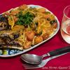 Spaghettini al salsa pomodoro con tonno e funghi、altro nome boscomare