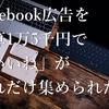 Facebook広告を予算1万5千円で「いいね」がどれだけ集められたか