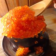北海道産イクラの神々しい輝き!東銀座「いろり家」名物の山盛りイクラ丼が凄すぎる