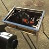 電動空気入れでBBQの炭火おこしを最速にする