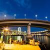 広角レンズで撮りに行きたい、レインボーブリッジのループ橋!