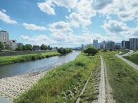 夏休み初日、豊平川沿いをサイクリングして1人青春してきた。