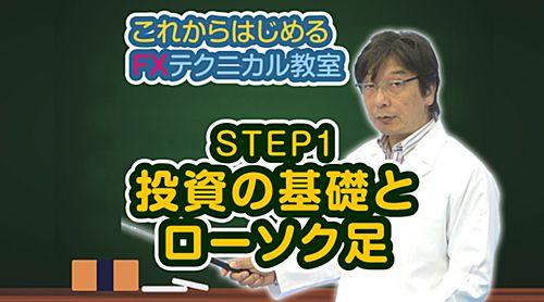 【動画】これからはじめるFXテクニカル教室「STEP1 投資の基礎とローソク足」