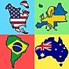 国旗 - 全世界の大陸の国旗 : 新しい地理クイズ