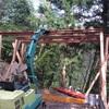 ガレージ梁と柱
