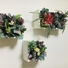 ウォールボックスを100均造花で飾ってみました