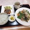 金沢市進和町「天水」で初夏の苦味が食欲そそる肉とアスパラの塩炒め定食