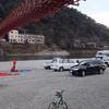 今年の初出撃は美濃橋でキャンプ