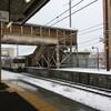 雪の中央線 恵那→名古屋【隔離明け備忘】