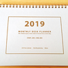 2019年は手帳とカレンダーを兼用することにしました