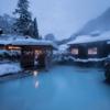 乳頭温泉「鶴の湯」で雪見風呂!
