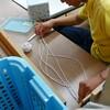 ゴム紐の取り換え作業