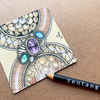 【Zentangle】ゼンタングルと宝石