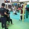 キックボクシング加圧トレーニング。