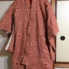 1:ピンクの水玉お着物をワンピースにリメイク♪