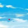 青空と雲とぷちゴン|Photoshop|ぷちゴン
