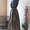 バティックのギャザーロングスカート
