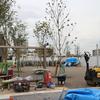 中野区の小学校を潰したあとに大規模マンションとちっちゃな公園が建設中(2018/10/15撮影)おかのうえ公園