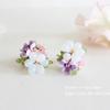 紫陽花のブーケ刺繍ピアス・イヤリングをお店に並べました