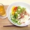 【糖質制限レシピ】糖質0麺のサラダうどん風
