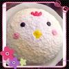 酉年はじめはやっぱりにわとりケーキ♡