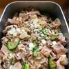 豚肉とゴーヤ、茗荷のオイスターソース