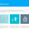 Webフォントアイコンとして使えるGoogle Material Icons