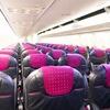 今日本で一番新しいのはJTAの737。ピチピチ・ピカピカのキャビンで快適な空の旅を。
