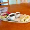 あぐり窪川 「レストラン風人」のモーニング(サンドイッチセット)