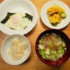簡単質素な夏の朝食、ほどほど体に良いを意識した我が家の事例