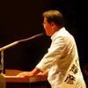 4日、福島市での増子候補の個人演説会。憲法破壊、原発推進の安倍政権には絶対負けられないと気迫の訴え