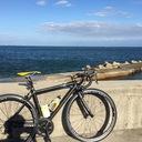 自転車で山、海へ行く