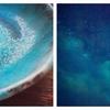 青い食器が好きらしい