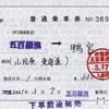 本日の切符:伊豆箱根鉄道 大雄山線 五百羅漢駅発行 五百羅漢→鴨宮 補充片道乗車券