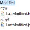 JavaScriptのlastModifiedを使って、現在表示しているページの最終更新日とファイル名を取得して表示させる