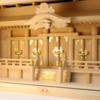 箱型の五社の神棚であれば横幅80cmで収まる