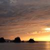 加茂島と夕陽と...