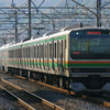 12月16日撮影 東海道線 平塚~大磯間 EF66-27号機の1077ㇾ