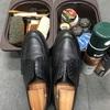 久々に靴を磨きました。
