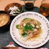晩ごはん▶︎海鮮あんかけ焼きそば定食(シーフードミックスはこう使う!)