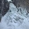 層雲峡 雲井の滝 アイスクライミング