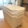 食器棚の収納はセリアの白ボックスでスッキリ