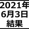2021年6月3日結果 レーザーテック爆上げ