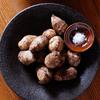 旬の里いもの丸焼きと料理をカッコよく見せてくれる田鶴濱守人さんの器